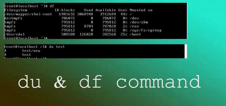 du & df commands