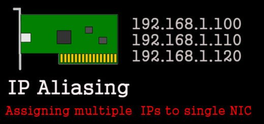 IP Aliasing : Assigning multiple IP addresses to single NIC