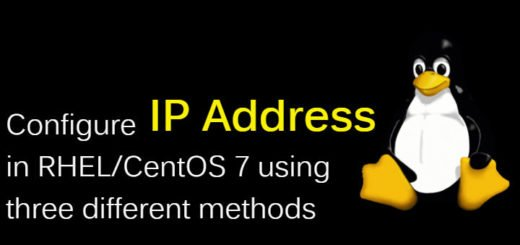 configuring ip address