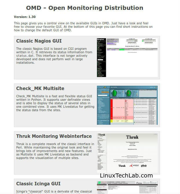 Complete monitoring solution : Install OMD (Open Monitoring