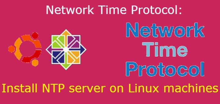 Network Time Protocol: Install NTP server on Linux machines