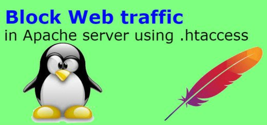 Block Web traffic in Apache