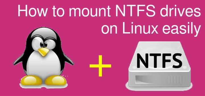 mount NTFS drives on Linux