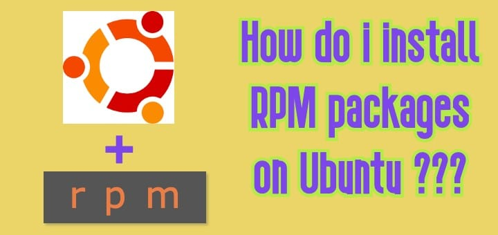 install RPM packages on Ubuntu