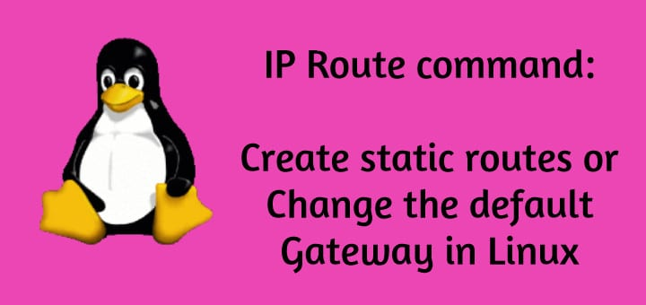 IP route command
